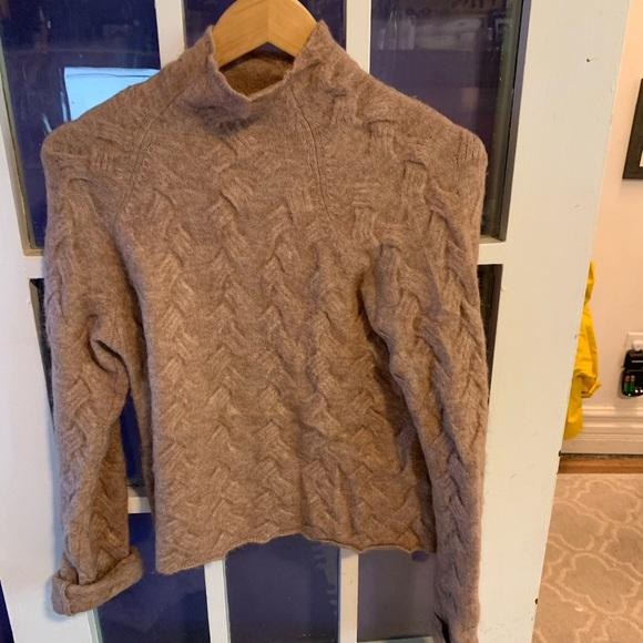 TNA woven wool sweater